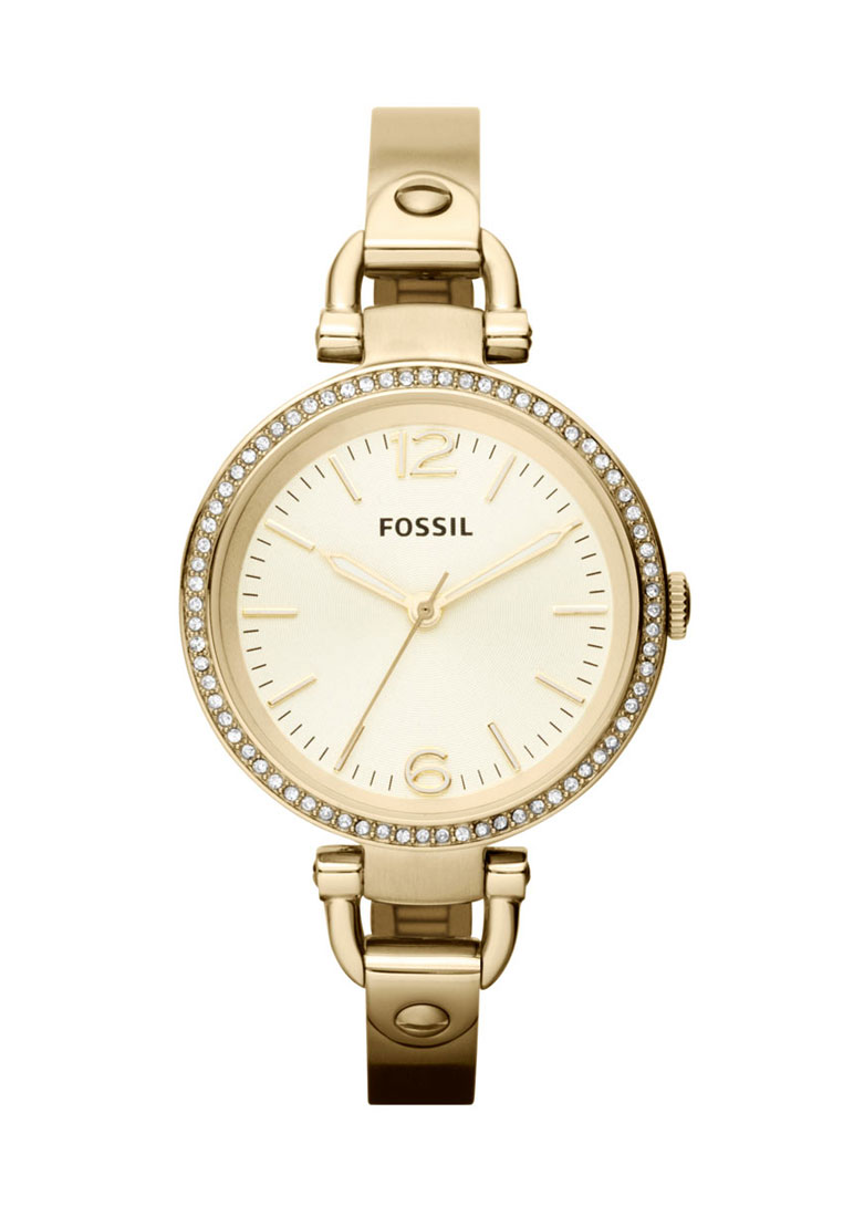 fossil georgia gold round dial analog watch for women. Black Bedroom Furniture Sets. Home Design Ideas