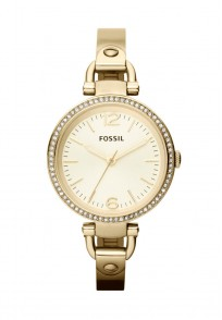 Fossil Georgia Gold Round Dial Analog Watch For Women