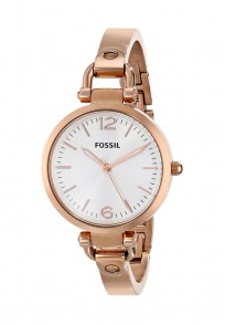 Fossil Georgia Rose Gold Round Dial Analog Watch For Women