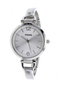 Fossil Georgia Round Dial Silver Analog Watch For Women
