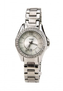 Fossil Riley Round Dial Silver Analog Watch for Women