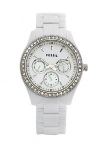 Fossil Riley Round Dial White Analog Watch for Women