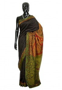 Jullaaha Black Soft Silk Designer Saree