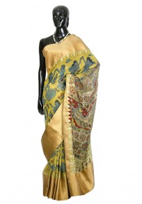 Jullaaha Cream Georgette Designer Saree