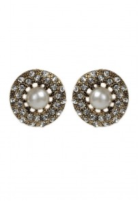 Pari Pearl and Crystal Studded Earring