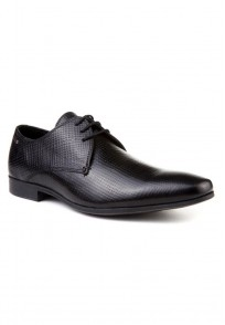 Red Tape Men Black Leather Formal Shoes - RTS7221