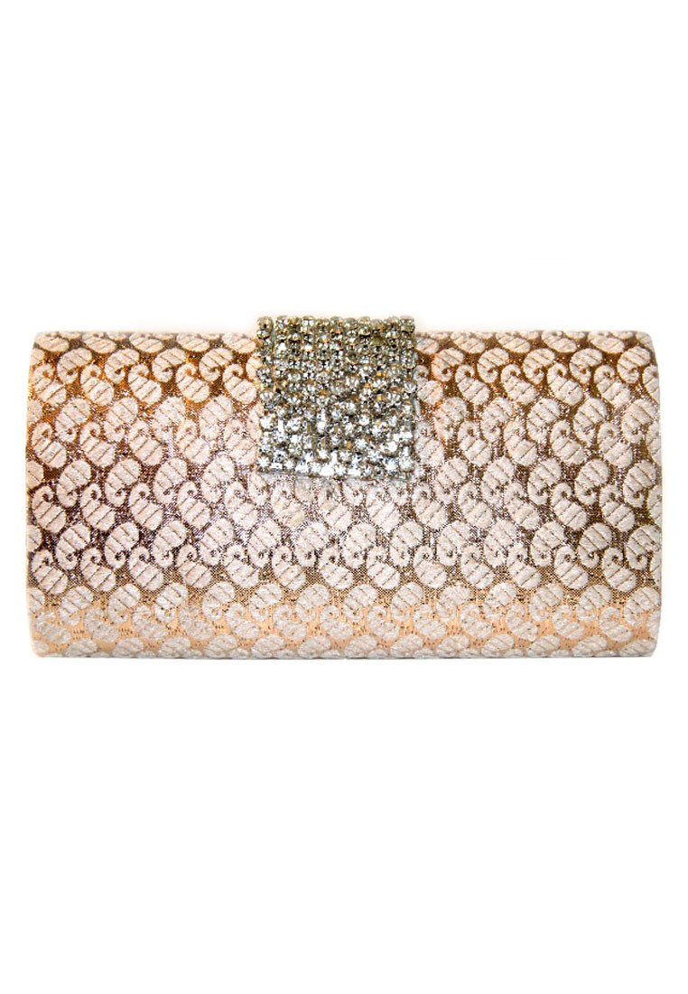 Favola Designer Brocade Silk Box Clutch Bag