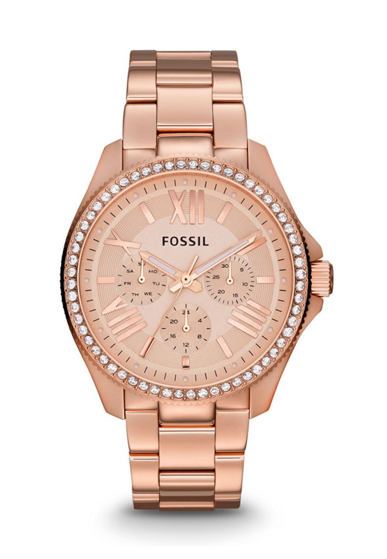 Fossil Cecile Rose Gold Round Dial Analog Watch For Women