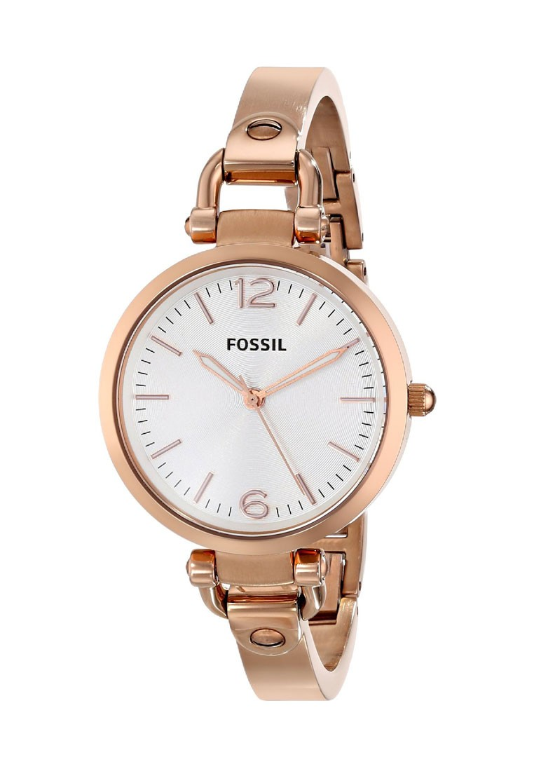 Fossil georgia rose gold round dial analog watch for women footwear jewellery watches for Watches for women