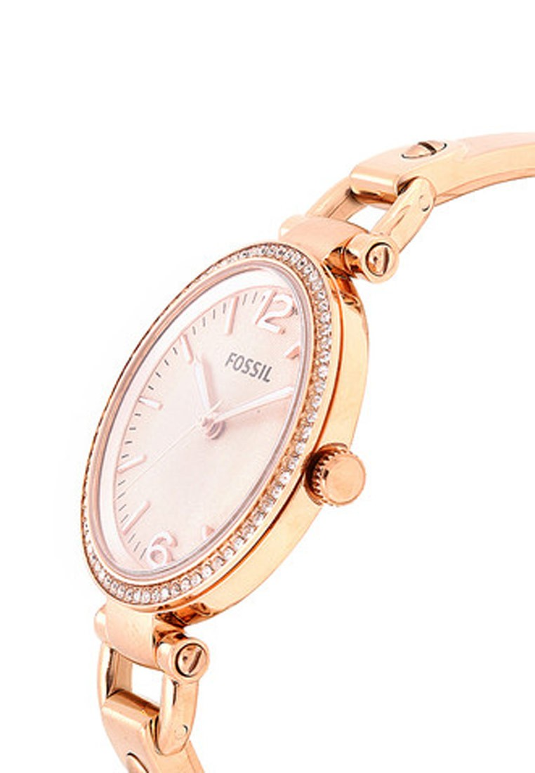 Fossil georgia round dial rose gold analog watch for women footwear jewellery watches for Watches for women