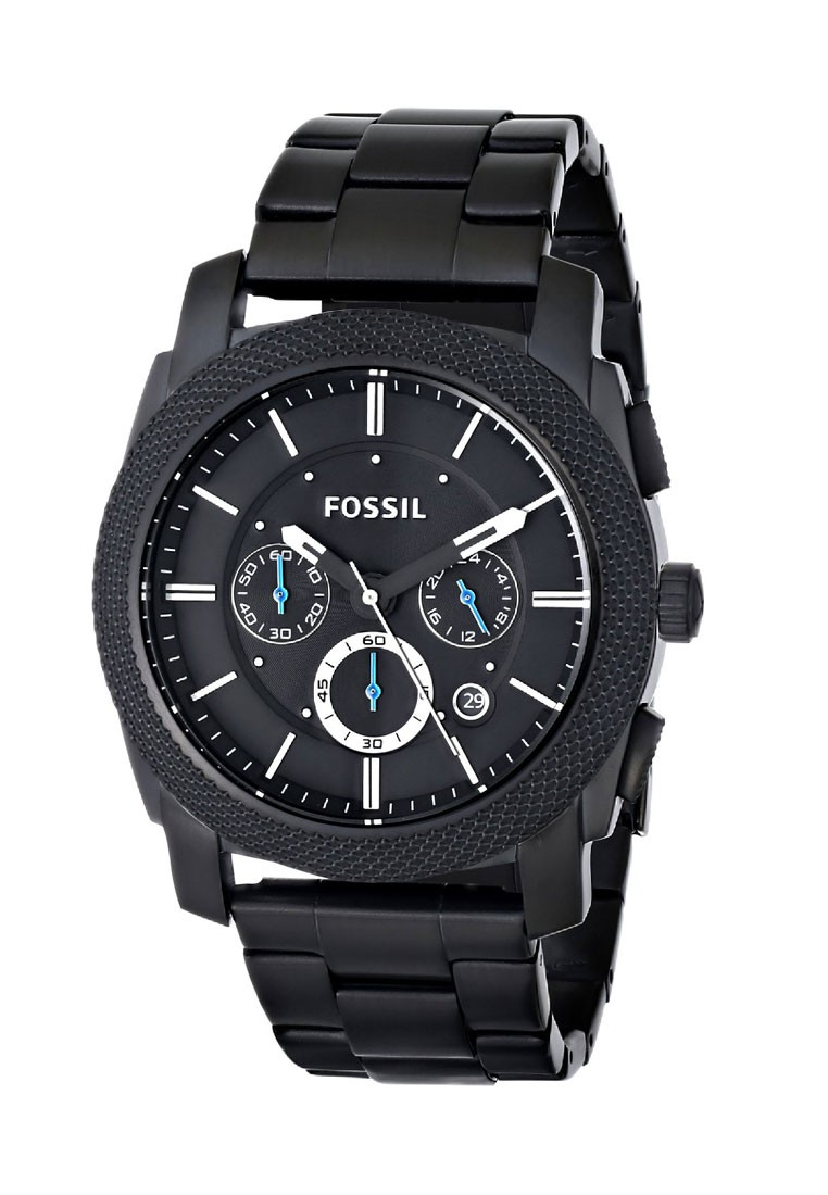 fossil machine chronograph stainless steel