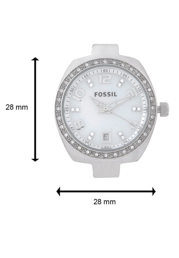 Fossil Silver Strap Round Dial  Analog Watch for Women