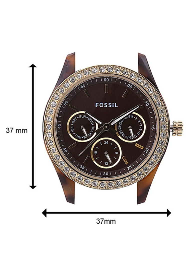 Fossil Stella Round Dial Brown Analog Watch For Women