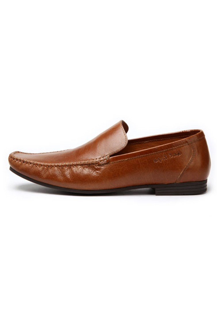 brown leather casual shoes rts6423