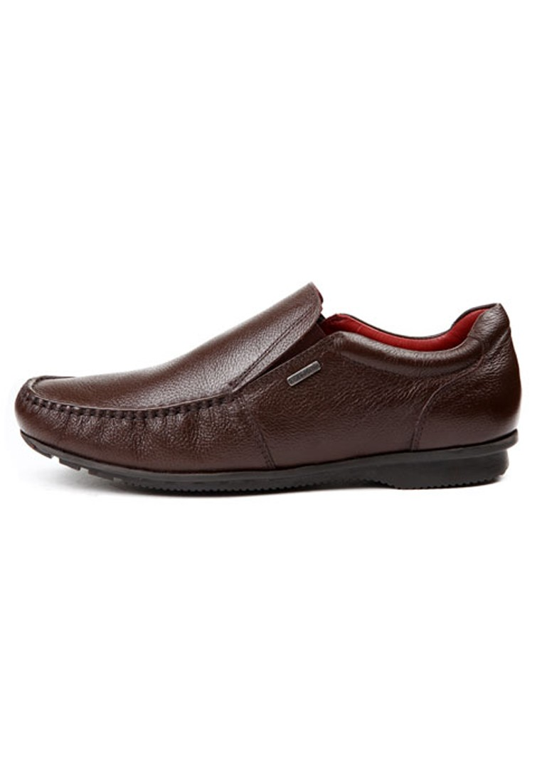 brown leather casual shoes rts6163