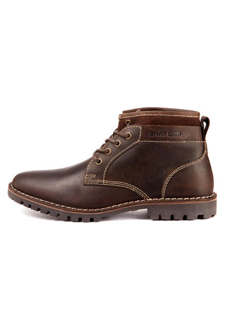 red tape men brown leather boots rts7752 footwear