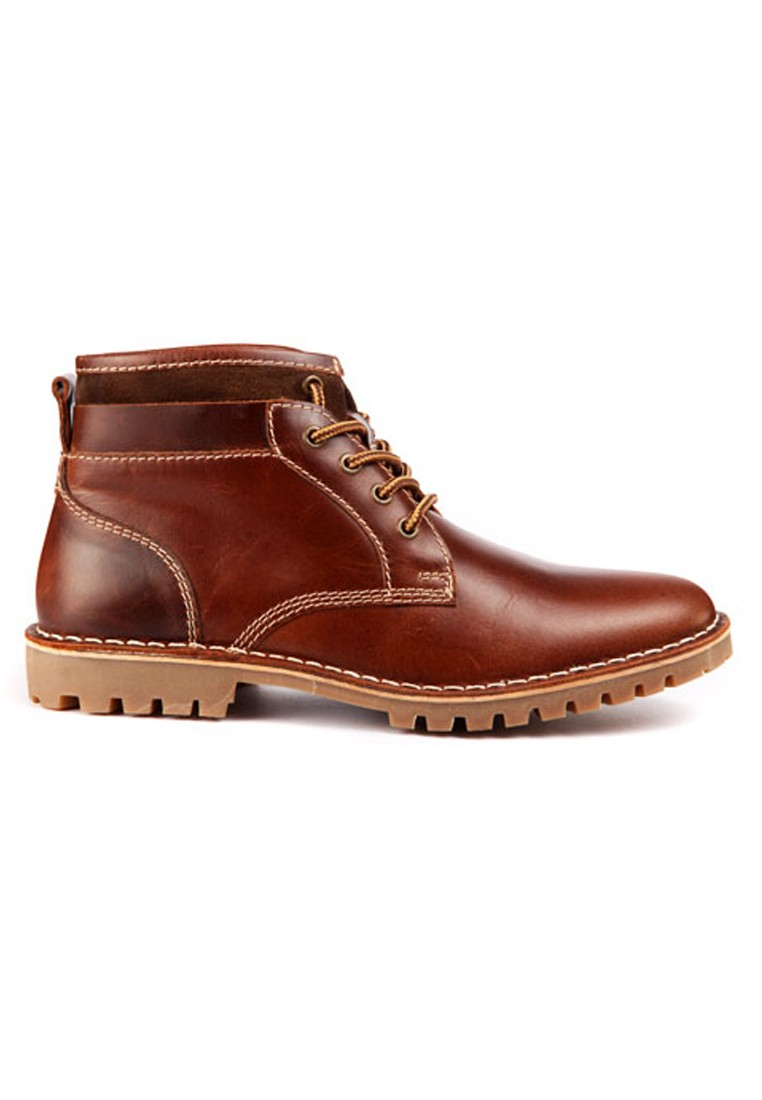 red tape men tan leather boots rts7753 footwear