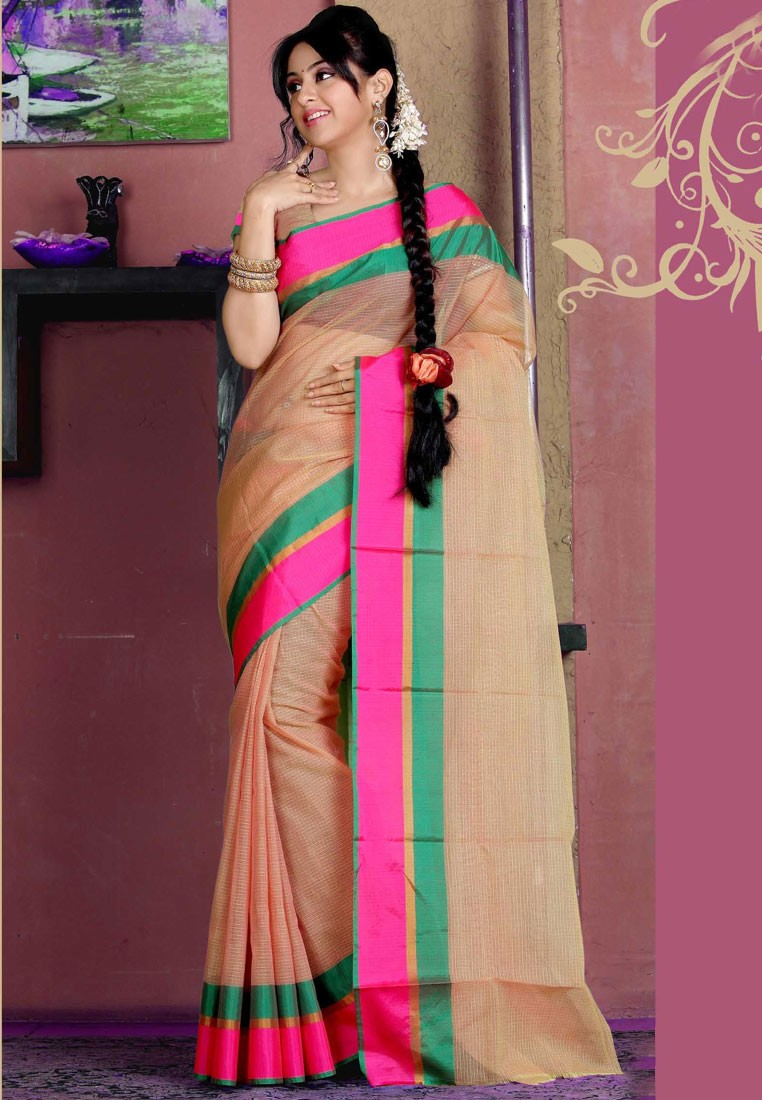 Sellers Beige Manipuri silk Saree