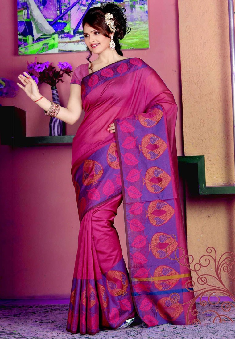 Sellers Pleasing Pink Manipuri silk Saree