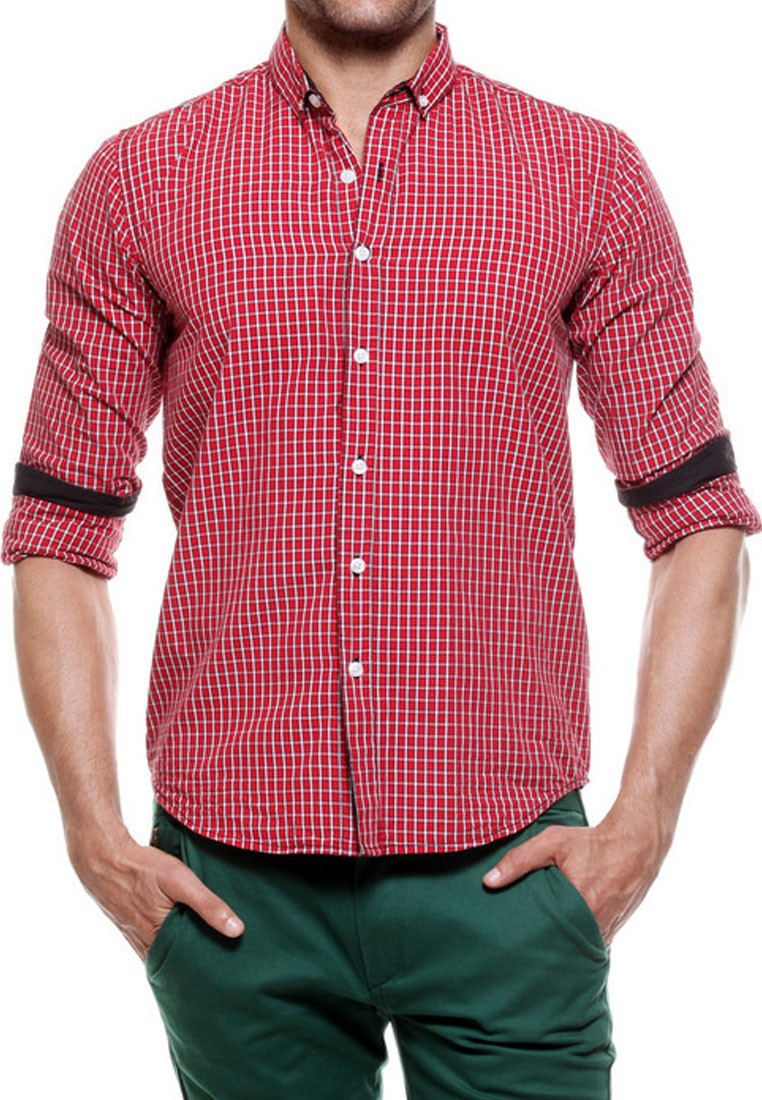 ASOS DESIGN oversized check shirt with geo-tribal design in red. $ Jack & Jones Originals brushed check shirt in slim fit. $ New Look regular fit shirt in red check. Fred Perry enlarged check shirt in off white. $ ASOS DESIGN smart slim stripe work shirt with embroidery. $ ASOS DESIGN Plus slim check shirt in brown.