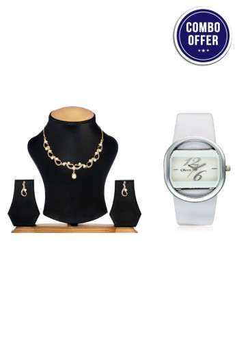 074bf23a38c6 Beautiful Necklace Set   Watch Combo By Oleva - Footwear ...