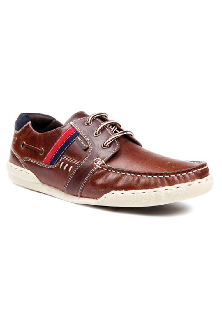brown leather casual shoes rts7032