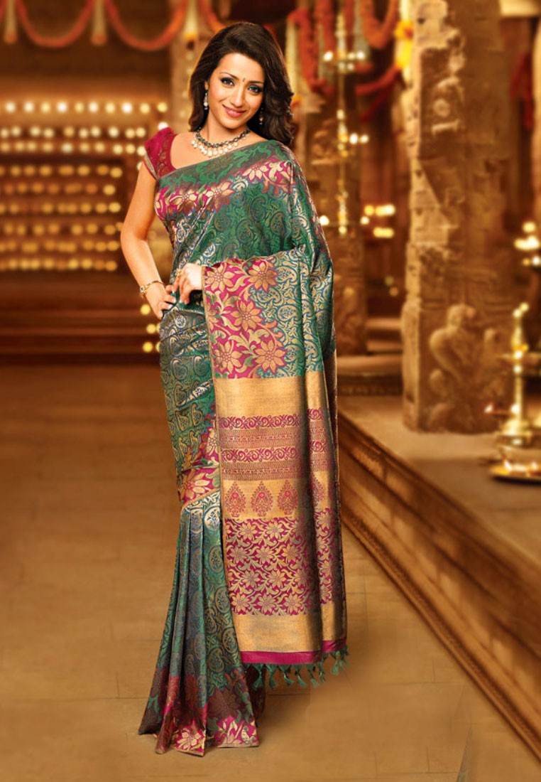 Pothys Green And Purple Samuthirika Silk Saree Footwear Jewellery Watches Sunglasses Bags Accessories Perfume Beauty Online Store Umaiyal